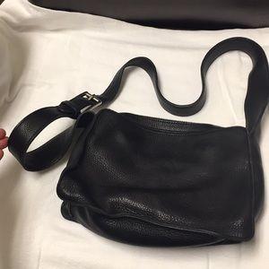 DKNY Donna Karan NY bag purse black leather